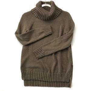 LOFT Knit Pullover Loose Long Turtleneck Sweater